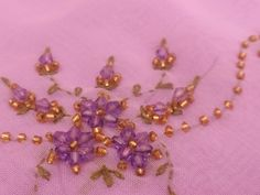 Online Tudung Centre: TUDUNG BARU-Sulam Manik Crystal Lost Art, Beaded Embroidery, Jewelry Design, Fashion Jewelry, Sequins, Brooch, Beads, Crystals, Create