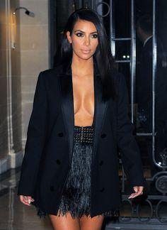 September 25, 2014 - Kim Kardashian the Le Royal Monceau Hotel in Paris.