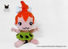 Pebbles Flintstone amigurumi