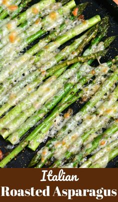 Business Cookware Ought To Be Sturdy And Sensible Italian Roasted Asparagus Is A Simple Side Dish That Will Be Ready In Less Than 20 Minutes. It's Made With Addition Of Italian Flavors Like Oregano, Parsley, And Parmesan Cheese. Italian Side Dishes, Side Dishes For Chicken, Dinner Side Dishes, Healthy Side Dishes, Side Dishes Easy, Vegetable Side Dishes, Side Dish Recipes, Vegetable Recipes, Side Dishes With Steak