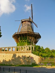 Windmill in Potsdam by Sanssouci, Berlin, Germany Dresden, East Germany, Berlin Germany, Mystery Travel, Netherlands Windmills, Saxony Anhalt, Frederick The Great, Summer Palace, Historical Monuments