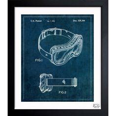 'Ski Mask 1992' Framed Blueprint Art