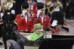 LONDON (AP) — Queen Elizabeth II and her family marked her official 90th birthday Saturday with a parade, a colorful m