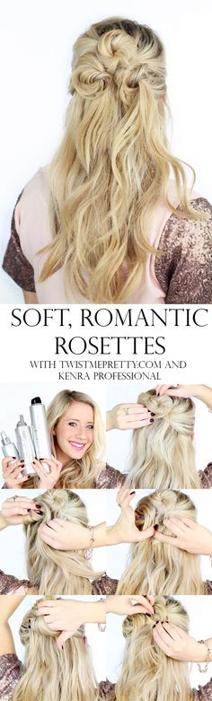 A very soft, romantic hairstyle that's perfect for Valentines Day. Come get the full tutorial at Twist Me Pretty