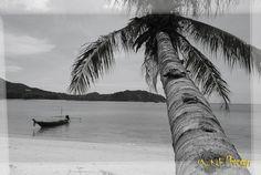 Chaloklam, the beautiful white sand beach in the North of Ko Phangan, Thailand