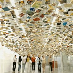 false ceiling by Richard Wentworth in İstanbul Modern