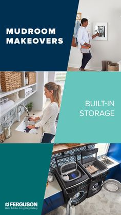 The new year brings new projects to tackle, and we're here to help modernize mudrooms everywhere with a sneak peek at the latest trends in laundry room looks. Dream Home Design, House Design, Wash Board, Painting Brick, Home Building Tips, Laundry Room Inspiration, Home Remodeling Diy, Mud Rooms, Home Organization Hacks