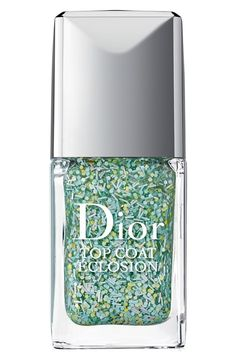 Love the mint and green confetti in this Dior gel top coat!