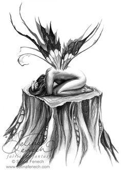 Fairy Art and Fantasy Art Prints Gallery Sad Fairy, Fairy Art, Fantasy Kunst, Fantasy Art, Elves Fantasy, Fairy Drawings, Fairy Tattoo Designs, Faeries, Satan