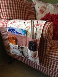 Bedside caddy / organizer remote holder by thecraftiestcoop