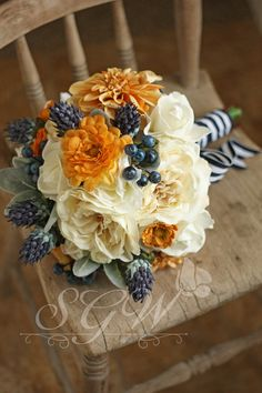 Navy and Mustard Nautical Wedding by SouthernGirlWeddings on Etsy