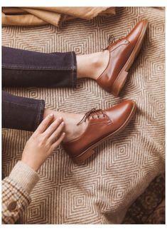 Oxford Shoes Heels, Women Oxford Shoes, Men's Shoes, Shoes Women, Oxford Boots, Brown Leather Shoes, Brown Oxfords, Black Shoes, Thick Leather