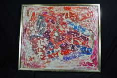 Amazing Vibrant Singed Hans Spengler 63' Abstract Oil on Canvas