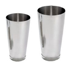 2 Piece/Set Stainless Steel Cocktail Shaker: 15 OZ & 26 OZ by Thunder Group. $15.28. This listing for two cocktail shakers: One is 15 OZ and the other is 26 OZ. Polished stainless steel for durability. Versatile functions for both dry and wet products.. Great items for your bar!