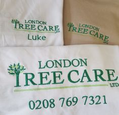 Embroidered Workwear, Tree Care, London, London England