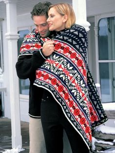 Nordic Lap Blanket | Yarn | Free Knitting Patterns | Crochet Patterns | Yarnspirations