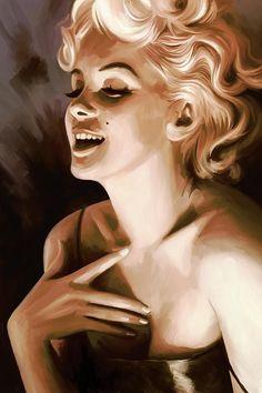 Marilyn Monroe Artwork 1 Painting (par Sheraz A)