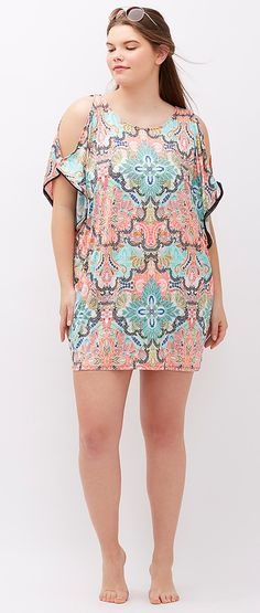 Plus Size Swim Cover Up - Plus Size Swimwear