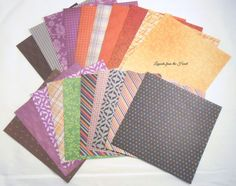 DCWV Autumn Fall 6x6 SAMPLER Pack 102 - 20 designs Fall colored patterns for scrapbooking, collage, cards, crafts harvest golden leaves