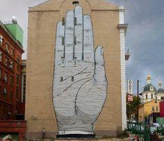 Hand Street Art by Escif New Mural