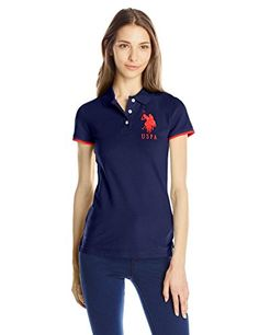 U.S. Polo Shirt Assn. Juniors' Contrast Patch Polo Shirt >>> Continue to the product at the image link.