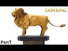 The Lion King Origami tutorial (Satoshi Kamiya) part 1 折り 紙 ライオン león leo - YouTube