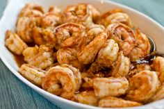 Ginger, Garlic & Chili Shrimp Recipe (substitute the vegetable oil with coconut oil)