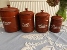 Vintage French Kitchen - Rare and Collectable - French Vintage Enamel Set…