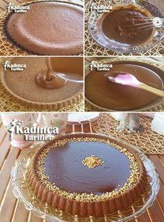 Tart Cake Recipe, How to Make? - Female Recipes -Chocolate Tart Cake Recipe, How to Make? Easy Chocolate Pie, Chocolate Brownies, Chocolate Desserts, Chocolate Cream, Easy Cheesecake Recipes, Pie Recipes, Dessert Recipes, Food Cakes, Cupcake Cakes