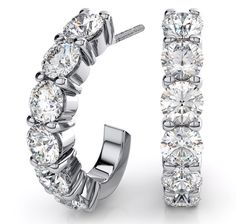 Silver Diamond Hoop Earrings Cccccccccuuuuuuuuuttttttttteeeeeeeee