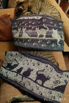 Ravelry: Herding Cats Stranded Cowl pattern by Karen Buhr *what a pretty PILLOW this would make! Hearding cats, that's always fun - LOL! Fair Isle Knitting Patterns, Knitting Charts, Loom Knitting, Knitting Stitches, Knit Patterns, Hand Knitting, Stitch Patterns, Double Knitting Patterns, Crochet World