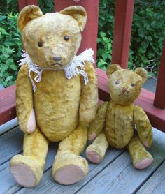 Mother and baby vintage Teddy Bears