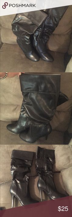 NWT black heeled boots Size 7 Shoes Heeled Boots