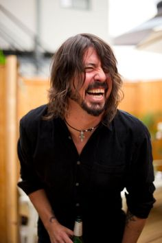 Dave Grohl is funny, intelligent, a musical badass,a lyrical genius, a killer drummer and one o' my musical heroes!! Not to mention, he's not too bad on the eyes.