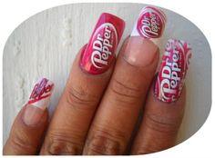 Dr Pepper - Nail Art Gallery nailartgallery.nailsmag.com by nailsmag.com