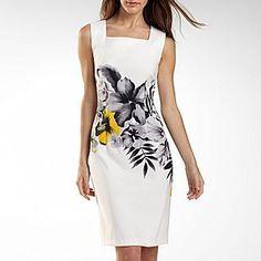 Alyx® Floral Print Squareneck Sheath Dress thestylecure.com