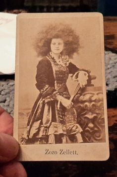 1882 CDV Photo of Circus Freak ZoZo Zellett, Bedford Pa.