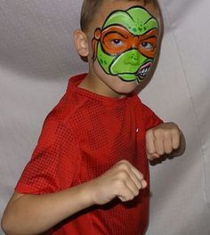 Trying to get into the mood for the new Ninja Turtle movie coming with his favorite Turtle Face Painting!   #facepainting #facepaint #Art #crafts #family #fun #creative #birthday #TMNT #Turtles  (http://www.enchantedfacesbydalton.com/)