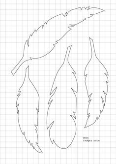 Free feather template to use for bead embroidery Feather Template, Feather Stencil, Feather Pattern, Feather Wall Art, Paper Art, Paper Crafts, Diy Paper, Paper Book, Foam Crafts