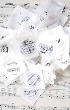 Music Seals for Envelopes Created from Vintage by MagpieandMax, $17.50