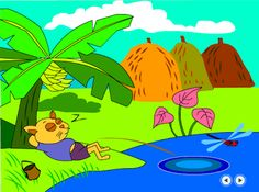 Phạm Hoan: Flash cho mầm non : Mèo đi câu cá.