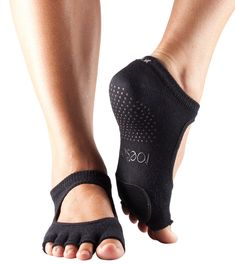ToeSox Women's Plie Half Toe Grip for Yoga, Pilates, Barre, Dance, Toe Socks With LEATHER PAD (Black) Small -- You can get additional details at the image link. Barre Socks, Yoga Socks, Running Socks, Dance Equipment, Ankle High Socks, All About Dance, Pilates Barre, Grip Socks, Leather Socks