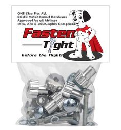 Fasten Tight Kennel Hardware - Silver 8 pack   4 Pack (12 total) -- You can get additional details at the image link. (This is an Amazon affiliate link)