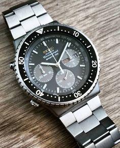 """Seiko Chronograph """"Sports 100"""" Ref.7A38-7075 Cal.7A38"""