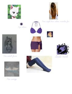 """Starla the Cat (Fairy Tail) The Grand Magic Games (Mira Vs Jenny: Bikini with Thigh-high socks)"" by fangirl-of-seto-kaiba on Polyvore featuring Dorothy Perkins, Tommy Bahama, WALL and Designers Guild"