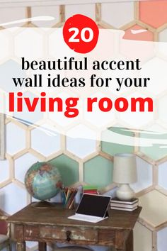 Creative accent wall ideas you can do on a budget. How to make a beautiful and impressive accent wall for bedroom, living room, entryway or staircase. Budget friendly DIY accent wall ideas. Learn how to create a stunning accent wall. #accentwall#diy Shabby Chic Painting, Above Bed, Lighted Canvas, Vintage Canvas, Diy Wall Decor, Home Decor, Hanging Signs, Dream Rooms, Unique Photo