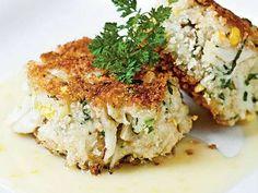 Sweet Corn, Leek, and Basil Crab Cakes