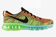 sports shoes 53ad5 45f2f Uncostly Nike Flyknit Air Max 2014 K R Skor Gr N På F Rs Ljning FRAKTFRITT  AV DHL