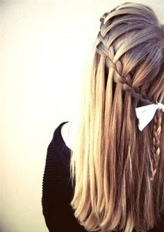cute waterfall braid hairstyles - Google Search
