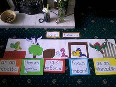 Teaching Schools, Primary Teaching, Primary School, Teaching Resources, Class Displays, School Displays, Classroom Displays, Irish Language, 5th Class